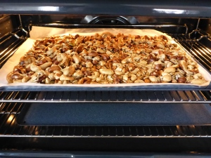 A single layer baking in the oven.