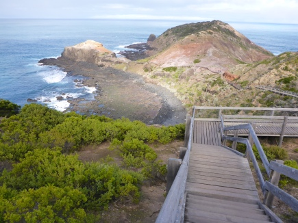 The boardwalk at Cape Schanck