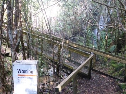 Walkway and warning sign!