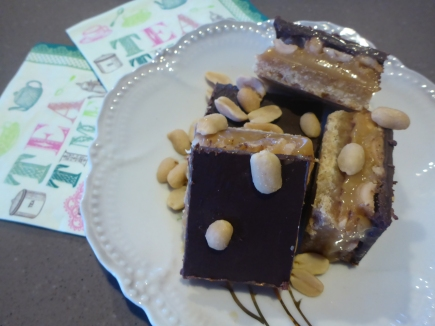 Salted Peanut and Caramel Slice