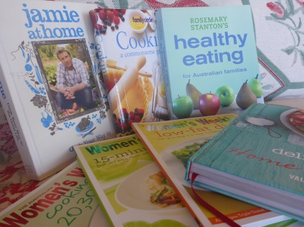 A range of cookbooks for healthy eating