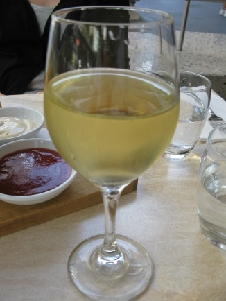 Mulling over a glass of wine at the end of a long day of being a tourist in Melbourne