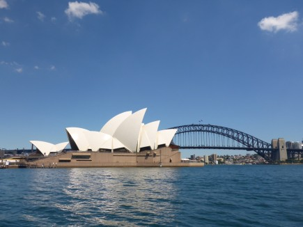 There is no better view from the ferry than looking back at the Sydney Opera House with the Harbour Bridge in the background