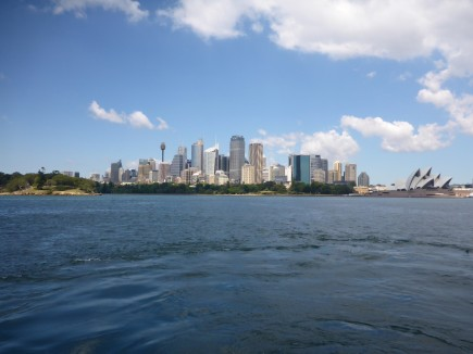A city view from the ferry