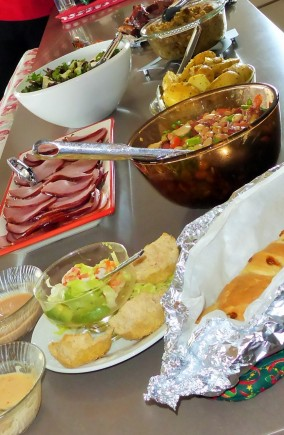 A few of the many dishes set out for Christmas day.