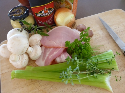 Some of the ingredients you will need for your pot pie