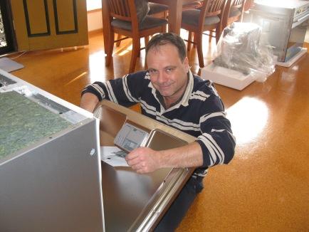 Wayne loves his new dishwasher