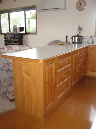 The old kitchen and that awful cork floor