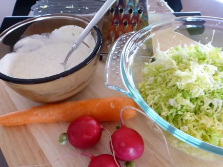 All the ingredients you need to make the perfect coleslaw