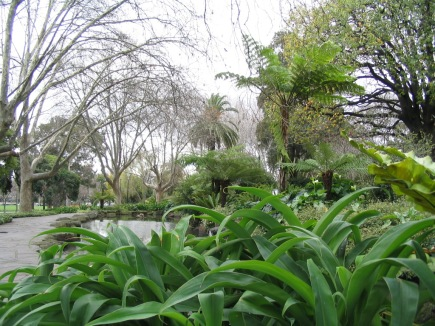 One of many gardens at Royal Botanic Gardens Melbourne