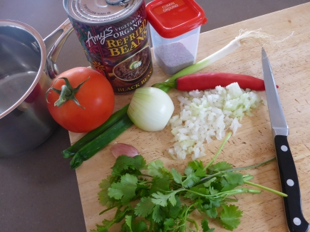 Some of the ingredients needed to make a great Bean Dip