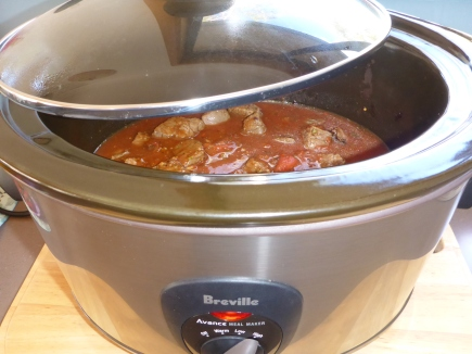 A slow cooker and is the way to go