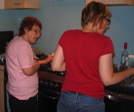 Cooking with mum. The joys of life in our household!