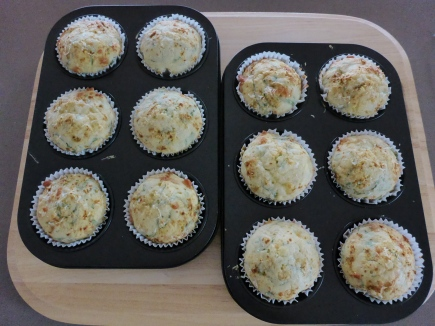 Tomato, Feta, Ham and Rosemary Muffins