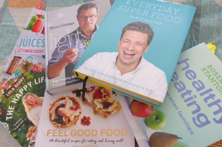 Some of the new healthy and super food cookbooks I want to try out!