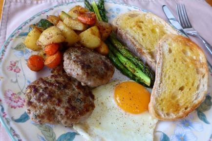 Breakfast sausages for breakfast!
