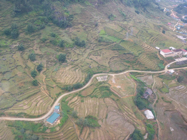 A view from the cable car Fansipan Sapa
