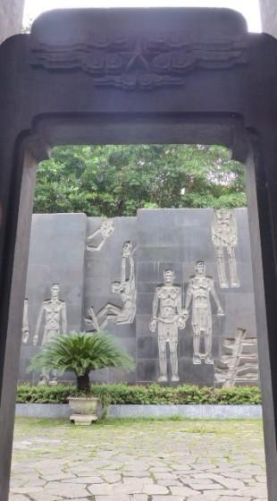 A view to the courtyard Hoa Lo Prison Hanoi