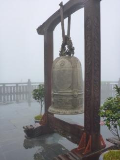 Bell outside Bich Van Thien Tu-Ha Pagoda. Fansipan, Sapa