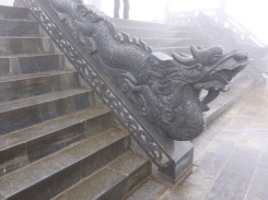 A dragon at the entrance of a Pegoda. Fansipan, Sapa