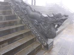 A dragon at the entrance of a Pegoda. Fansipan, Sapa