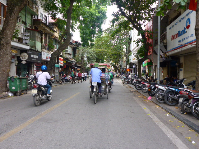 The streets of Hanoi, Vietnam.