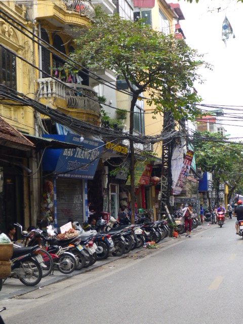 Take a look at the electricl wiring! Hanoi, Vietnam