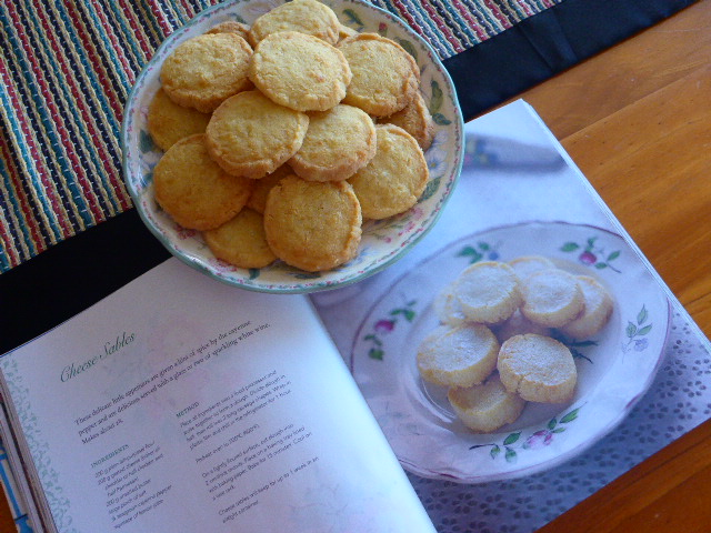 Cheese Sables - A great party or picnic food