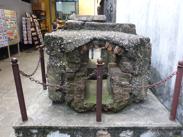 The sewer which was used as an escape route Hoa Lo Prison Hanoi