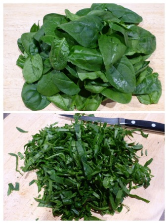 Baby Spinach whole and chopped