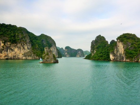The Emerald waters of Ha Long Bay