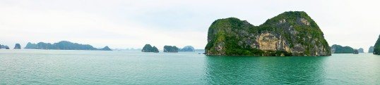A beautiful panorama of Ha Long Bay