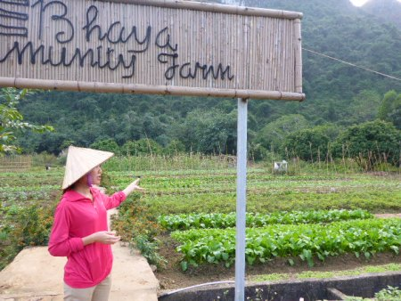 Bhaya Farm at Viet Hai Village for our cycling trip