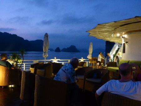 A night in Ha Long Bay